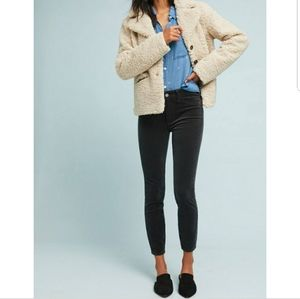 Anthro Pilcro High Rise Skinny Corduroy Ankle Pant